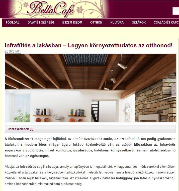 Infrafűtés a lakásban – Bella Cafe